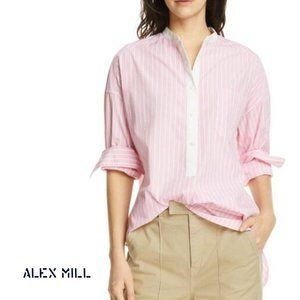 NWT ALEX MILL Stripe Shirttail Tunic Medium